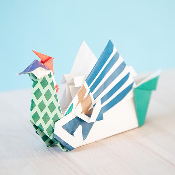 折り紙で鳳凰丸・龍鳳丸をつくろう